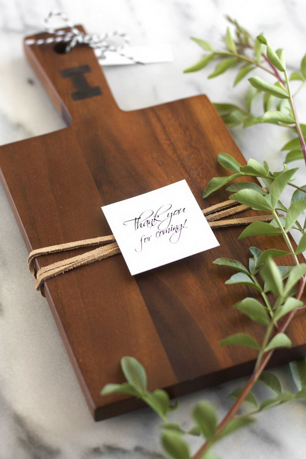 Personalized Board  with a Single Wood burned Monogram.  Check out the full tutorial