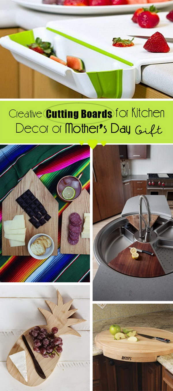 Creative Cutting Boards for Kitchen Decor or Mother's Day Gift!
