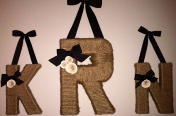 Decorative Twine Letters DIY. See the tutorial