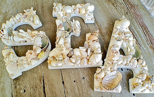 Sea Shells Letters. See the tutorial