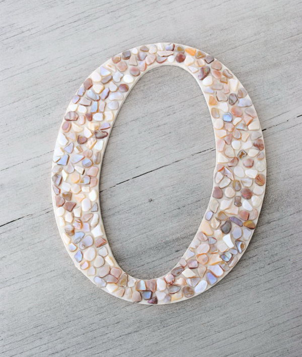 Mosaic Letter Wall Decor.
