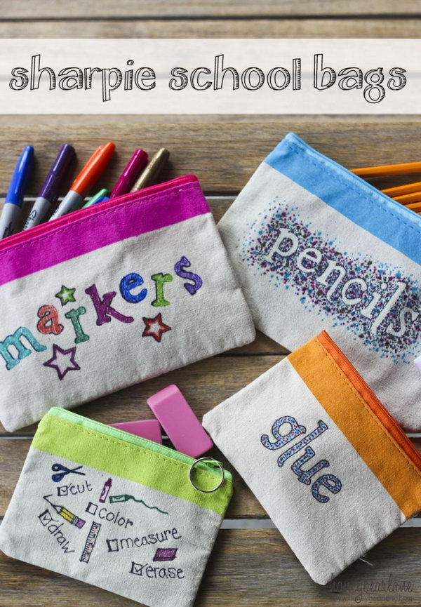 Sharpie School Supply Bags
