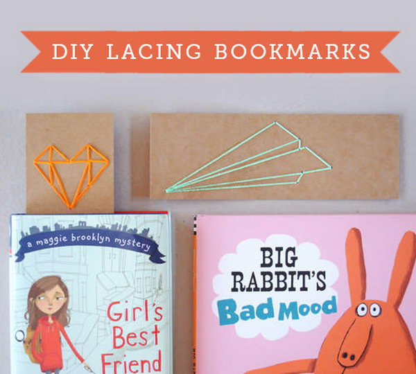 Back To School Lacing Bookmarks