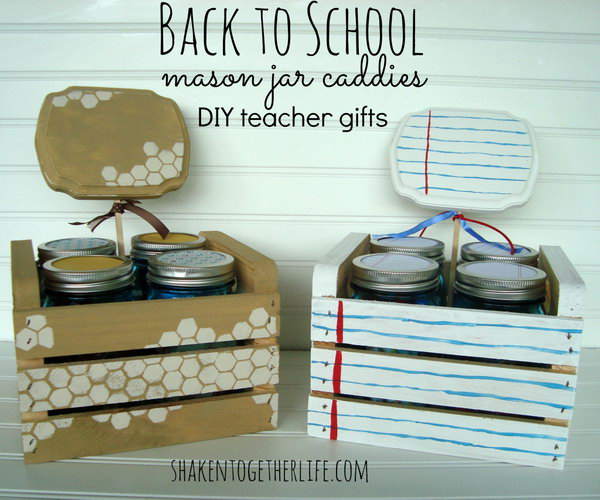 Back to School Mason Jar Caddies