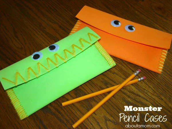 DIY Monster Pencil Cases
