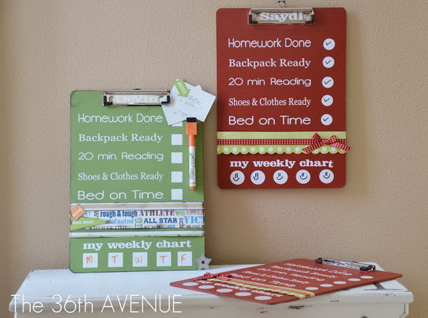 Back To School Dry Erase Clip Board