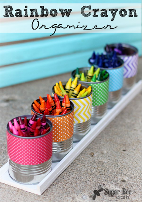 Rainbow Crayon Holder