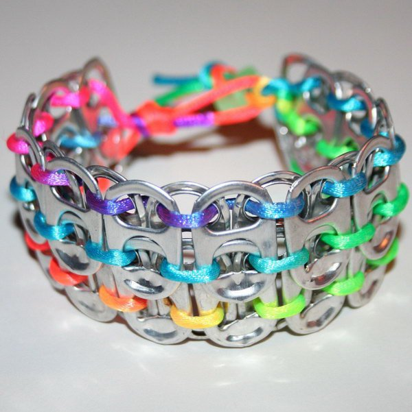 Pop Can Tab Cuff Bracelet