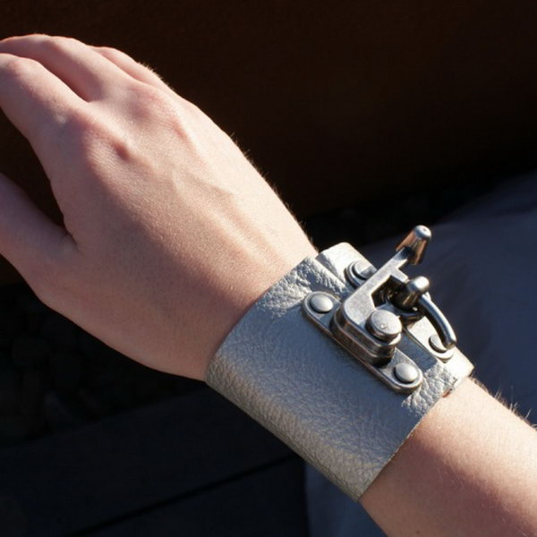 DIY Leather Clasp Cuff