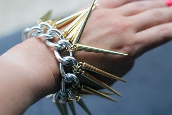 DIY Spike Bracelet