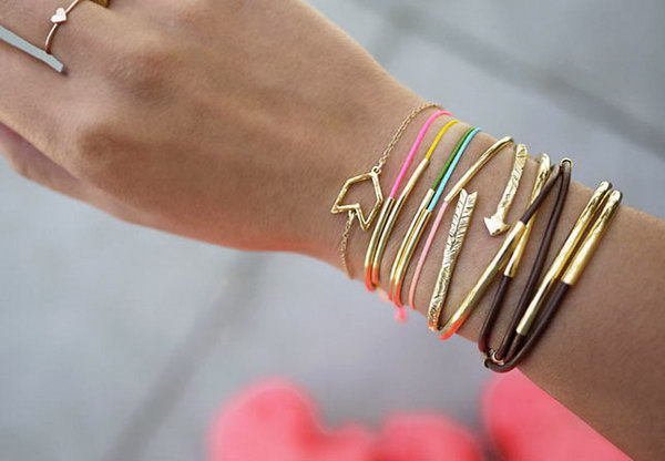 Gold Tube Bracelets