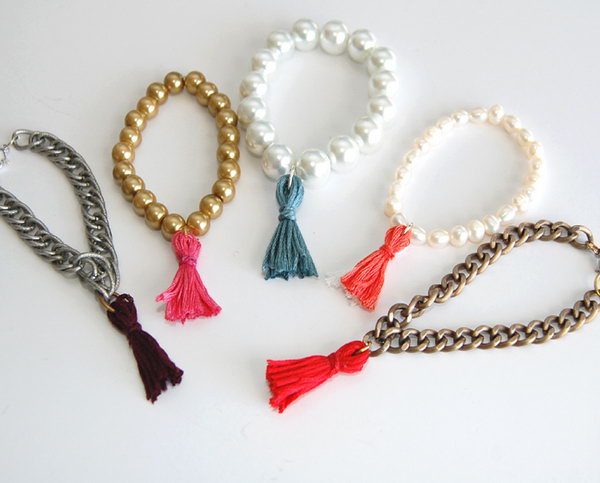 DIY Thread Tassel Bracelet