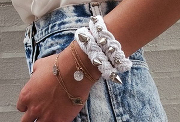 Spike Rope Bracelet