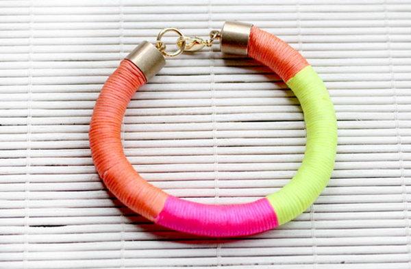 DIY Neon Wrap Bracelet