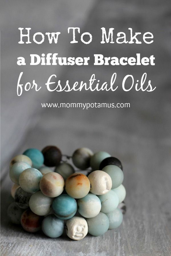 DIY Diffuser Bracelet For Essential Oils. Use clay and essential oils to create your beautiful diffuser bracelet. I like that it smells nice.