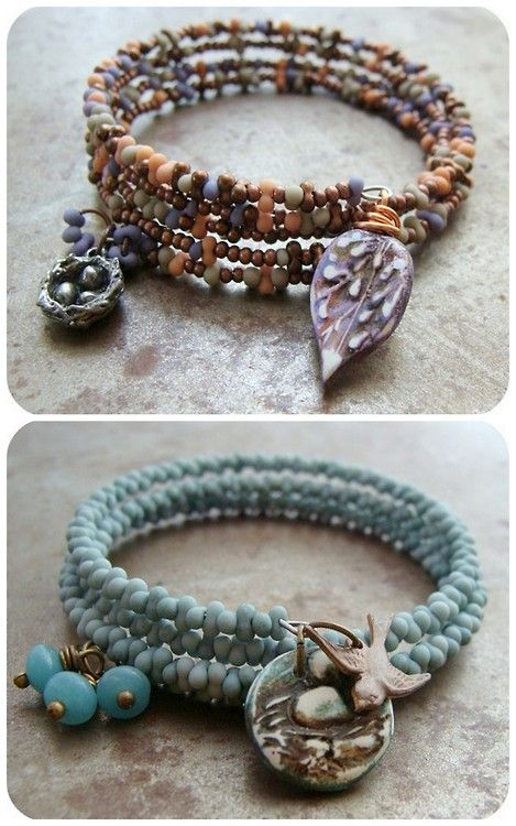 DIY Easy Memory Wire and Charms Bracelet