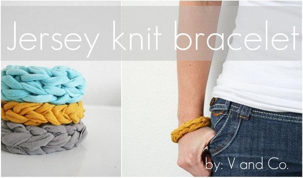 DIY Jersey Knit Bracelet