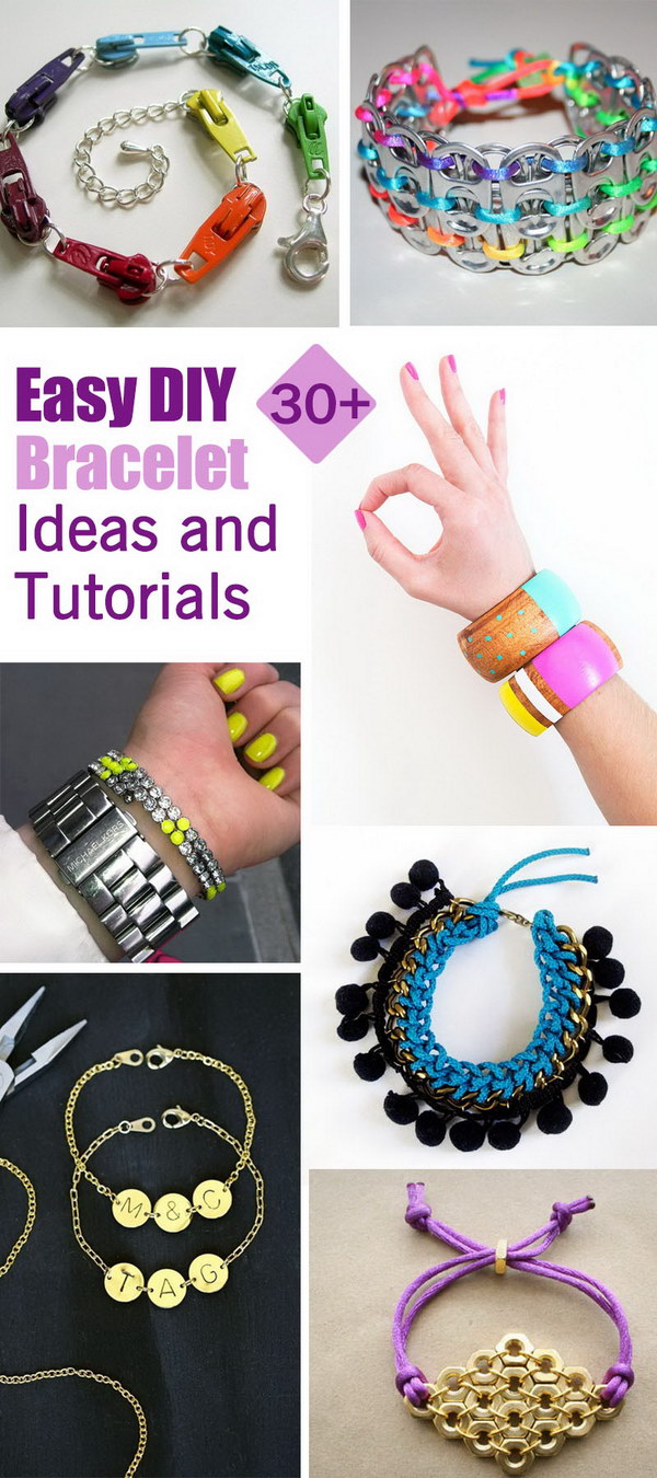 Lots of Easy DIY Bracelet Ideas and Tutorials!