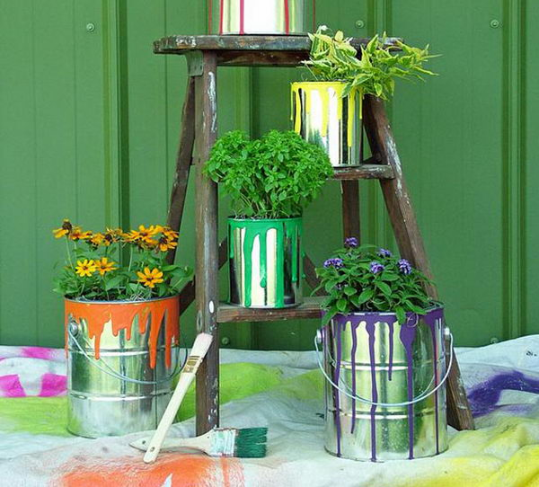 Paint Can Planters.