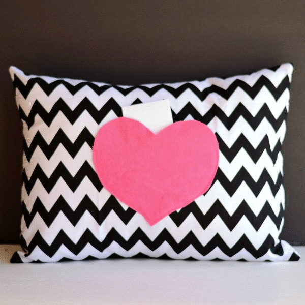 Secret Love Notes Envelope Pillow Cover
