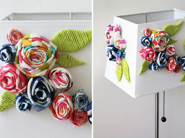 Blooming Fabric Lampshade. Get the tutorial