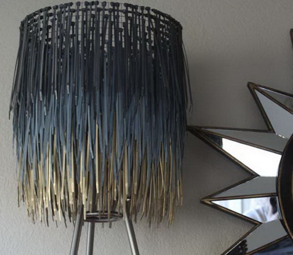 Zip Tie Lampshade. See the details