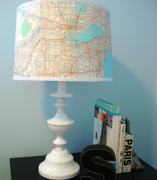 Map Lampshade. See how