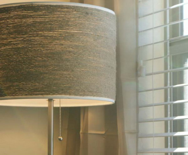 Twine Wrapped Lampshade. See how