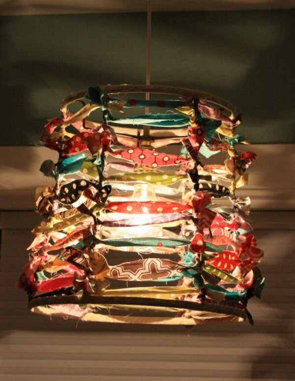 Scrappy Lampshade. See how