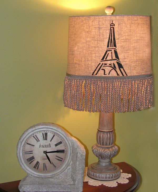 Paris Lampshade. Get the instructions