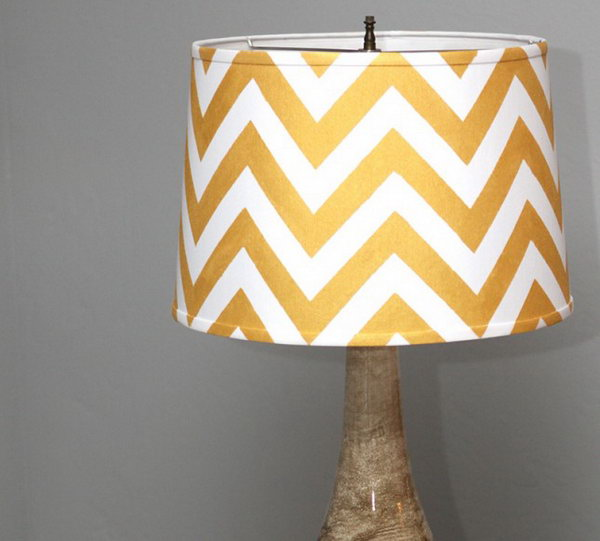 Chevron Lampshade. See the details