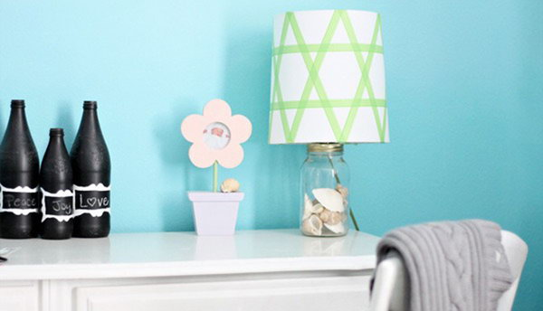 Washi Tape Lampshade. Get the instructions
