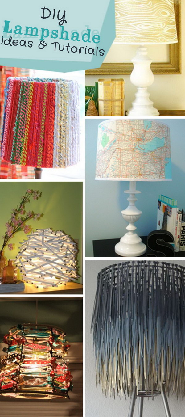 DIY Lampshade Ideas & Tutorials!