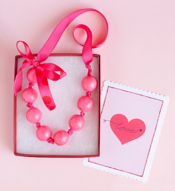 Valentine Gumball Necklaces