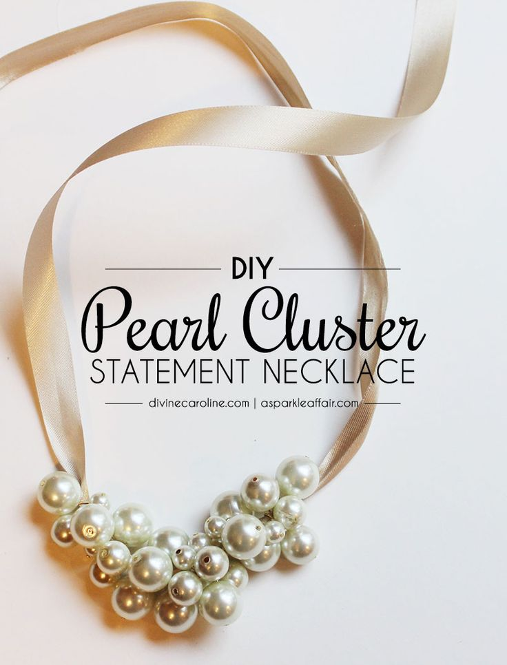Easy DIY Pearl Cluster Necklace for Less than $10