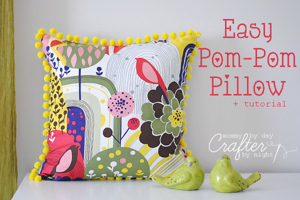 Easy Pom Pom Pillow