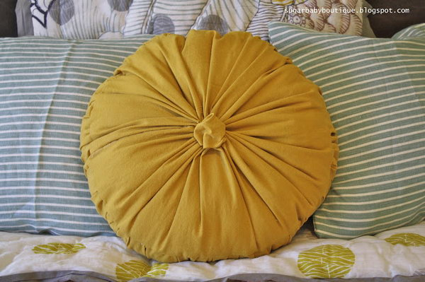 Anthropologie Rosette Round Pilliow Knock Off