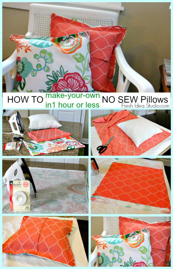 DIY Easy NO SEW PILLOW Tutorial.