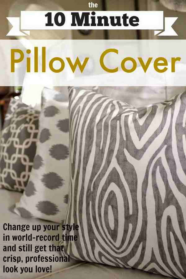 The 10 Minute DIY Pillow Cover
