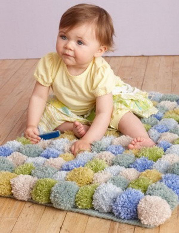 Cute Pom Rug. See more