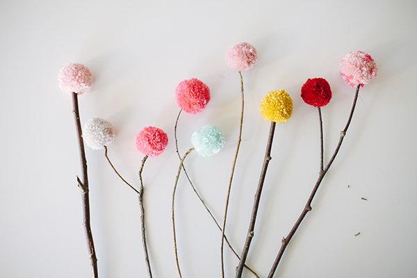 Colorful Pom Pom Bouquet. Get the steps
