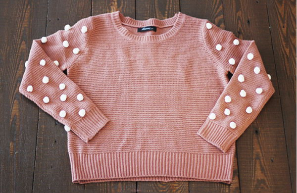 DIY Pom Pom Sweater. Get the tutorial