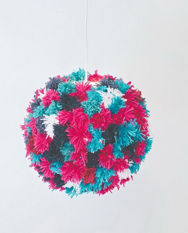 Pom Pom Pendant. See the steps