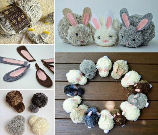 Easy to Make Pom pom Bunny. Get directions