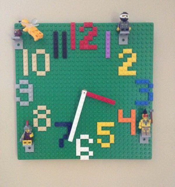 Lego Wall Clock. See more