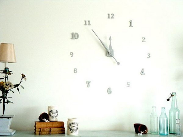 Floating Numbers Wall Clock. Get the tutorial