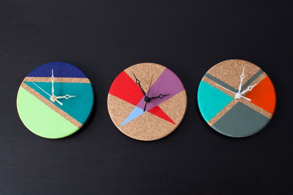 Cork Trivet Clocks. See how