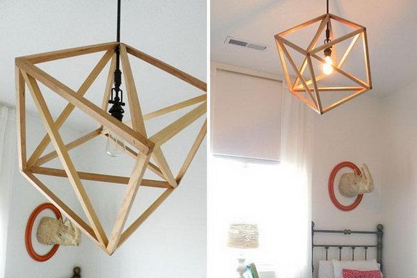 Cube Pendant Light. Get the tutorial