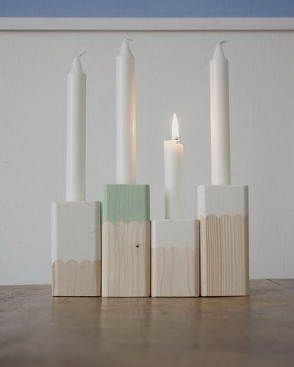Paint Dipped Candle Holders. See more details