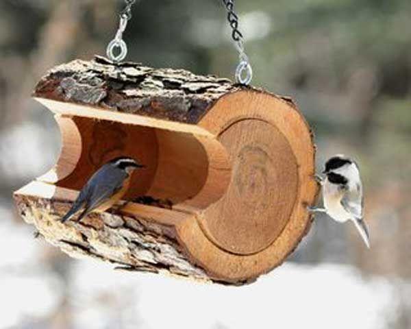 DIY Wood Bird Feeder.